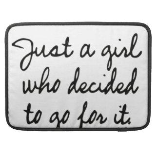 Apenas un chica que decidía ir para él fundas para macbooks