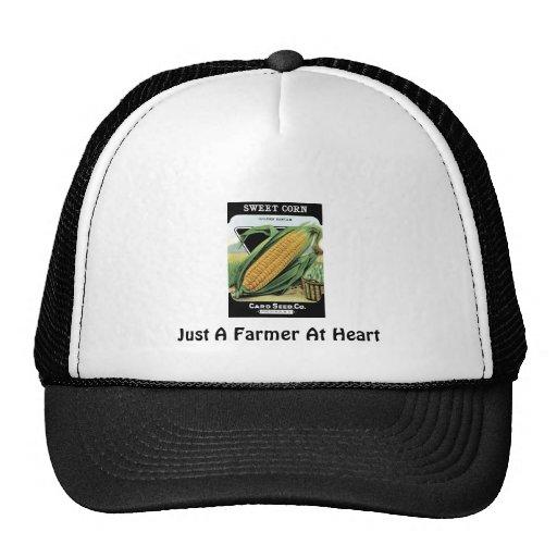 Apenas un granjero en el corazón gorro de camionero