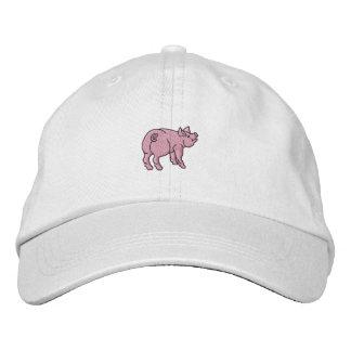Apenas un pequeño cerdo lindo gorro bordado