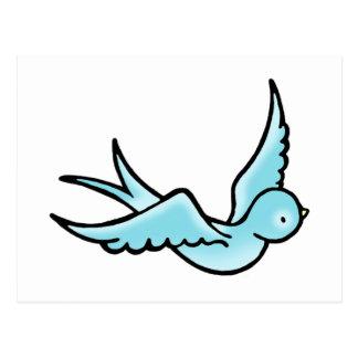 Apenas un pequeño pájaro azul postal