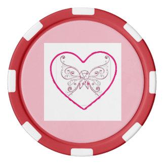 apenas un poco del corazón fichas de póquer
