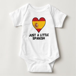 Apenas un poco español body para bebé