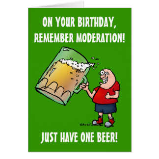 Apenas una tarjeta de cumpleaños divertida de la