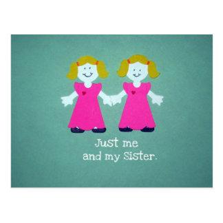 Apenas yo y mi hermana postal