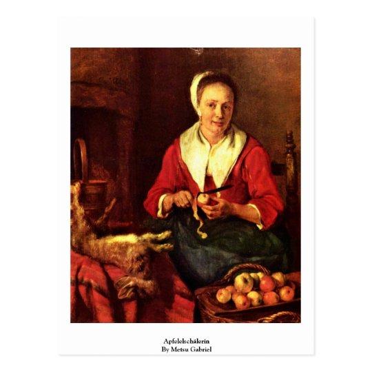 Apfelelschälerin de Metsu Gabriel Postal