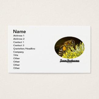 Apicultor del equipo (abeja en la flor amarilla) tarjeta de negocios