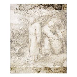 Apicultores de Pieter Bruegel la anciano Folleto 11,4 X 14,2 Cm