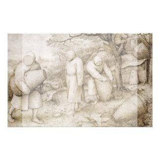 Apicultores de Pieter Bruegel la anciano Folleto 14 X 21,6 Cm