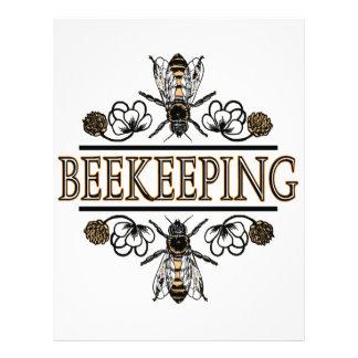 apicultura con las abejas de trabajador tarjetón