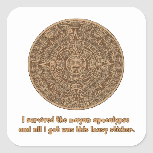 Apocalipsis maya calcomania cuadradas personalizada