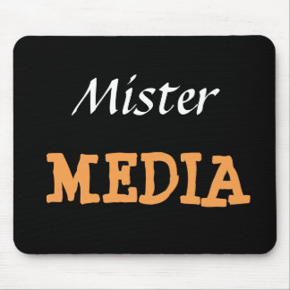 Apodo divertido de Sr. Media Male Journalist Alfombrilla De Ratón