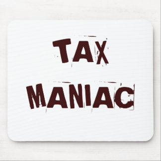 Apodo maniaco del impuesto del impuesto alfombrilla de ratón