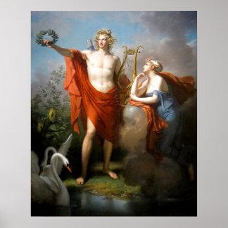 Apolo con Urania Póster