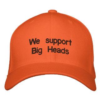 Apoyamos las cabezas grandes gorra bordada