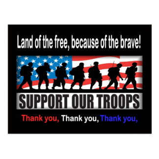 Apoye a nuestras tropas postal