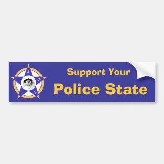 Apoye a su estado policial pegatina para coche