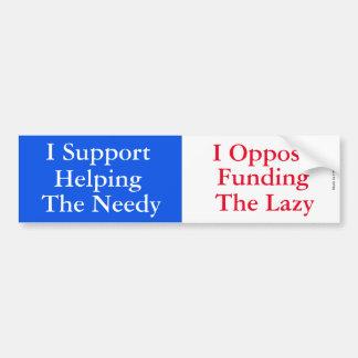 Apoye el necesitado - opóngase a la pegatina para