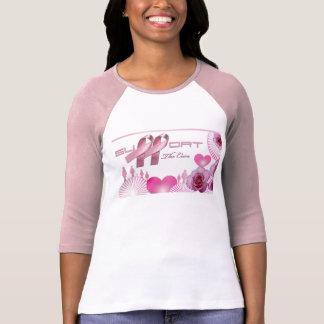 Apoye la curación, cáncer de pecho camiseta