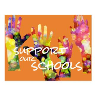 Apoye nuestra postal de las escuelas