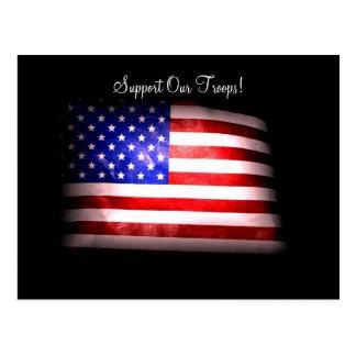 Apoye nuestra postal de las tropas