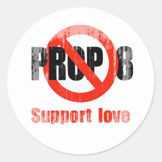 APOYO ANTI 8 - amor Faded png de la ayuda Pegatina Redonda