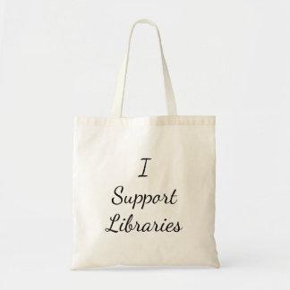 ¡Apoyo bibliotecas! La bolsa de asas
