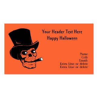 Apoyo del traje de Halloween del cigarro del cráne Plantilla De Tarjeta De Negocio