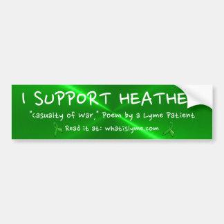 Apoyo el brezo, muerte de la pegatina para el
