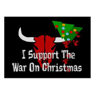 Apoyo guerra en navidad tarjetas personales