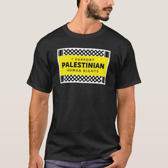 Apoyo la camisa palestina de los derechos humanos