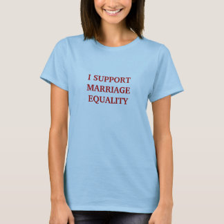 Apoyo la camiseta de la igualdad de la boda