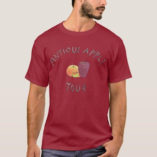 Apple antiguo viaja (2 echados a un lado) camiseta