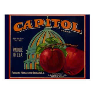 Apple capital etiqueta Sacramento Postal