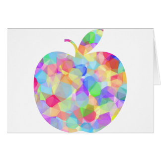 Apple colorido tarjeta de felicitación