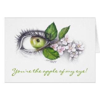 Apple de mi ojo dibuja a lápiz la tarjeta de