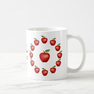 Apple de mi ojo, red delicious taza de café