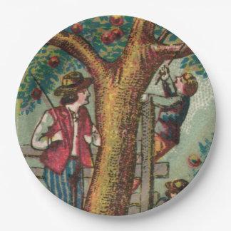 Apple del siglo XIX que escoge comida campestre Plato De Papel