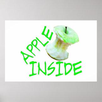Apple dentro póster