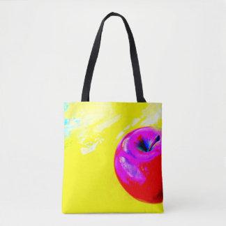 Apple en la bolsa de asas amarilla