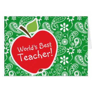 Apple lindo en Kelly Paisley verde Tarjetón