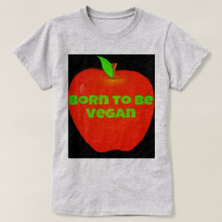 Apple llevado para ser vegano camiseta