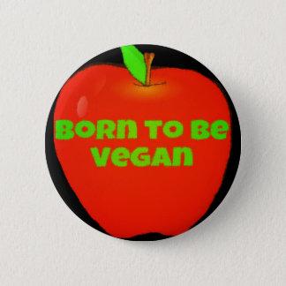 Apple. Llevado ser vegano Chapa Redonda De 5 Cm