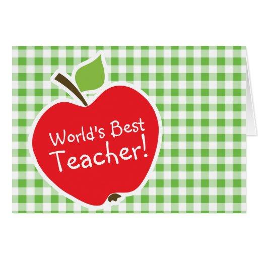 Apple para el profesor; A cuadros verde; Guinga Tarjetón
