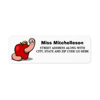 Apple para el profesor etiqueta de remite