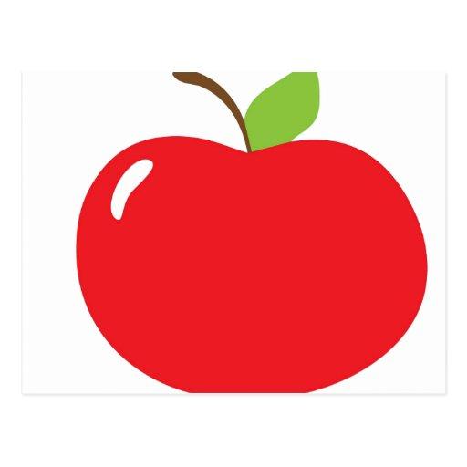 Apple para el profesor tarjeta postal