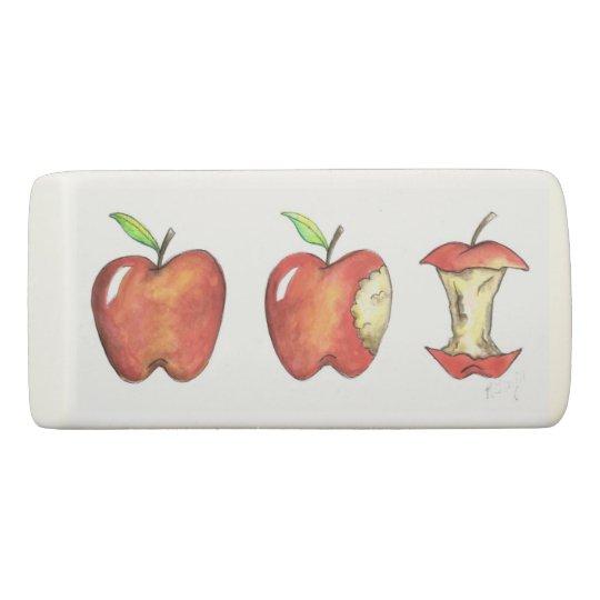 Apple para la educación escolar del profesor goma de borrar
