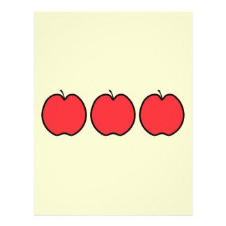 Apple rojo con un esquema negro tarjetas publicitarias