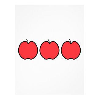 Apple rojo con un esquema negro flyer personalizado
