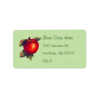 Apple rojo etiqueta de dirección