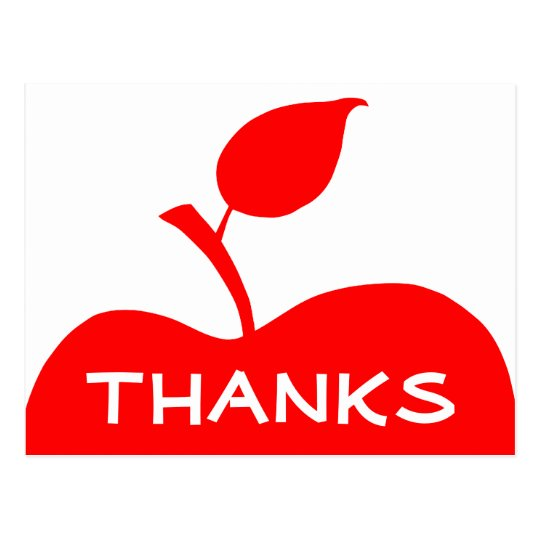 Apple rojo le agradece postal